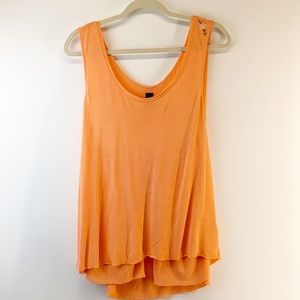 We the Free peachy flowing tank XS